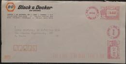 1982 Brasil Diadema  - Black & Decker   EMA Meter 24,00 - Used Stamp On Cover - Frankeervignetten (Frama)