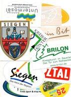 Selbkleber Sticker Autocollant Deutschland Germany  11 Stuks/pcs  Toeristic - Autocollants