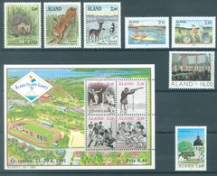 ALAND - 1991 - MNH/*** LUXE - YEAR COMPLETE FAUNA - Yv 44-54 - Lot 20776 - Aland