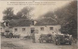 CPA TRACTEUR  FERME DE LA GRENOUILLERE - Tractores