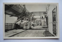 """PAQUEBOT """" ILE DE FRANCE"""" - Pont Des Embarcations - Paquebote"""