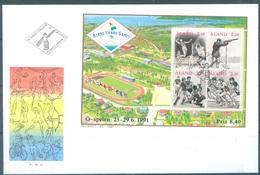 ALAND - 5.4.1991 - FDC - ALAND ISLAND GAMES - Yv BLOC 1 - Lot 20777 - Aland