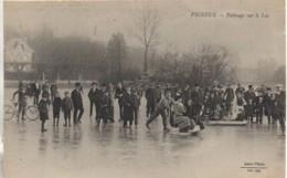 91 VIGNEUX  Patinage Sur Le Lac - Vigneux Sur Seine