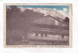 """CPA :  14 X 9  -  LE  PETIT-BORNAND  - """"  Aux Beaux Sites De Savoie """" - Chalet  """" Les Vergers """"  H.  Veuillet, Propr. - France"""