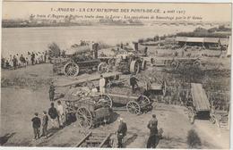 CPA TRACTEUR  CATASTROPHE PONTS DE CE   2 - Tractors