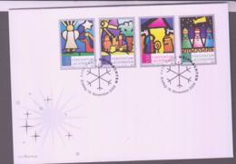 STAINED GLASS WINDOWS - LIECHTENSTEIN -2009 - WINDOWS SET OF 4ON ILLUSTRATED FDC  SG £15.50 - Glasses & Stained-Glasses