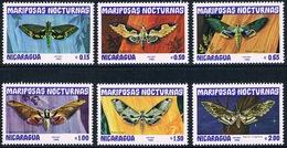 Nicaragua - Papillons Nocturnes 1239/1244 (année 1983) ** - Butterflies