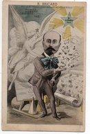 ESPERANTO * PROFESSEUR R. BRICARD * PROFESSEUR CONSERVATOIRE ARTS & METIERS * CARICATURE * édit. Farges, Lyon - Esperanto