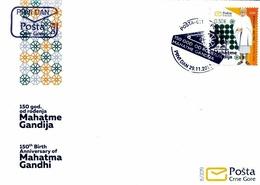 FDC 2019, The 150th Anniversary Of Birth Mohanda Gandhi,Montenegro - Montenegro