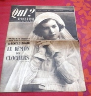 Qui Police N°37 Mars 1947 Démon Des Clochers Montfort Dinan Becherel,Tueurs Du Mardi Gras Pays Basque Louhossoa - Books, Magazines, Comics