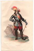 Gravure 19ème Réhaussée Du Maréchal De Turenne Chef Militaire Dessinée Par Mauzaisse Gravée Par Gaitte - Prints & Engravings