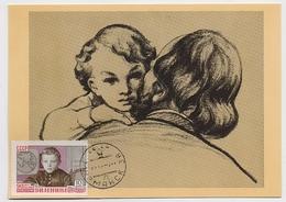 CARTE MAXIMUM CM Card USSR RUSSIA October Revolution Lenin Child Father Art Painting - 1923-1991 UdSSR