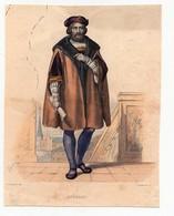 Gravure 19ème Réhaussée Du Maréchal De Ronsard Poête Dessinée Par Guilleminot Gravée Par Delaistre - Prints & Engravings