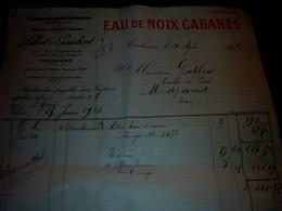 Facture Eaux De Noix CABANES Maison Labat & Gaubert à Toulouse (pour Le Café De Paris à Mazamet ) Année 1926 - Alimentare