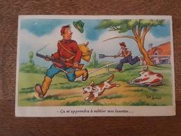 Chasse / Hunt / Jacht / Caza / Cassia / Jadg - Humour - Ça M'apprendra à Oublier Mes Lunettes... Vie Lechat Illustrateur - Hunting