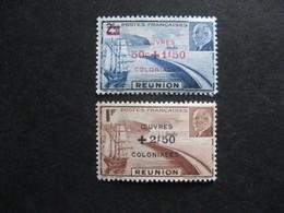 A). REUNION:  TB Paire N° 249 Et N° 250 , Neufs XX . - Réunion (1852-1975)