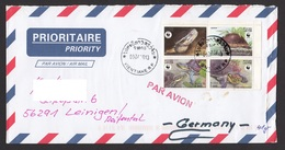 Laos 2004 Mi 1927 – 1930 Airmail Laos To Germany - Laos