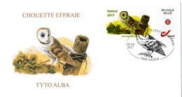 A.BUZIN  ENVELOPPE CHOUETTE EFFRAIE CACHET NAMUR 09/09/207 - 1985-.. Birds (Buzin)