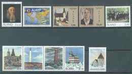 ALAND - 1992 - MNH/*** LUXE  - YEAR COMPLETE PHARES LEUCHTTURM - Yv 55-64 - Lot 20778 - Aland