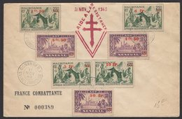 "Pli Commémoratif De La FRANCE COMBATANTE 11 NOV 1943 ""AIDE A LA RESISTANCE"" - A.O.F. (1934-1959)"