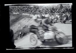 Negatif Photo Ancienne - Moto Course Side Car - Automobiles