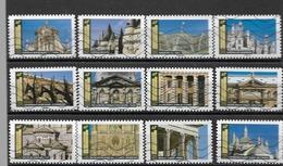 France 2019  Oblitéré Autoadhésif  N° 1671  à  1682  -  Histoire De Styles  - Architecture  -   ( Série Complète ) - Luchtpost