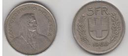 SUISSE - 5 FRS 1968 B - Suisse
