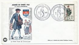 FRANCE - Enveloppe FDC - Journée Du Timbre 1961 (Petite Poste De Paris 1760) - SARREBOURG Moselle 10.3.1961 - 1960-1969