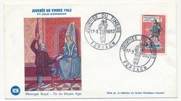 FRANCE - Enveloppe FDC - Journée Du Timbre 1962 (Messager Royal) - FORBACH 17.3.1962 - FDC
