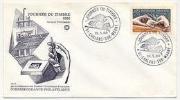FRANCE - Enveloppe FDC - Journée Du Timbre 1966 (Poinçon) - 51 CHALONS SUR MARNE 19.3.1966 - FDC