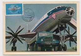 CARTE MAXIMUM CM Card USSR RUSSIA Civil Aviation Plane TU-114 - Cartes Maximum