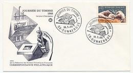 FRANCE - Enveloppe FDC - Journée Du Timbre 1966 (Poinçon) - 59 DUNKERQUE 19.3.1966 - FDC