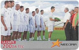 Algeria - Nedjma - Football - Flag Transmission, Exp.31.10.2014, GSM Refill 200DA, Used - Argelia