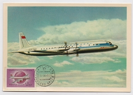 CARTE MAXIMUM CM Card USSR RUSSIA Civil Aviation Plane IL - Cartes Maximum