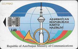Azerbaijan - BTRIB - Logo & GSM 2000, SC7, Cn. Red Embossed 00199842, 140Units, Used - Aserbaidschan