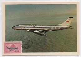 CARTE MAXIMUM CM Card USSR RUSSIA Civil Aviation Plane TU-124 - Cartes Maximum