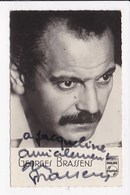 CP ARTISTE Georges Brassens Autographe - Singers & Musicians
