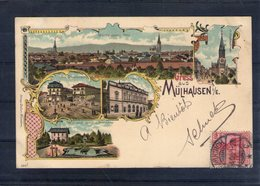 68. Mulhouse. Carte Illustrée. Gruss Aus Mulhausen - Mulhouse