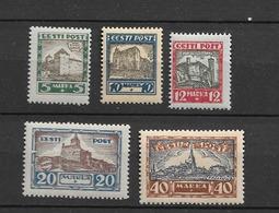 1927 MNH Estona Mi 63-67 Postfris** - Estland