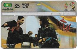 Brunei - JTB - L&G - Pencak Silat Fighting - 906A - 1999, 5B$, 100.000ex, Used - Brunei