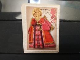 FRANCOBOLLI STAMPS GRAN BRETAGNA GREAT BRITAIN 1972 USED SU FRAMMENTO NATALE CHRISTMAS OBLITERE'  FRAGMENT - 1952-.... (Elisabetta II)