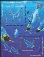 TAAF, FRENCH ANTARCTIC,  2019, MNH, PENGUINS, SHEETLET - Pingueinos