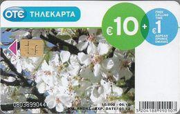 Greece - Greek Nature Flower - M116 (FV 10€) 06.2010, 10.000ex, Used - Grecia