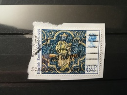 FRANCOBOLLI STAMPS GRAN BRETAGNA GREAT BRITAIN 1976 USED SU FRAMMENTO NATALE CHRISTMAS OBLITERE'  FRAGMENT - 1952-.... (Elisabetta II)