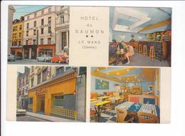 CP  - LE MANS (SARTHE)  HOTEL DU SAUMOM - Brasserie Le Savoie - Garage - Parking - Le Mans