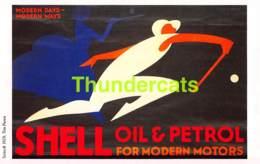 CPM PUB PUBLICITE SHELL POSTER ORIGINAL SHELLPOSTERS 1992 REPRODUCTIONS - Publicité