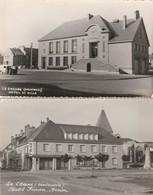 2 CPSM:LE CHESNE (08) HÔTEL SIMON BREIER,HÔTEL DE VILLE FOYER RURAL - Le Chesne