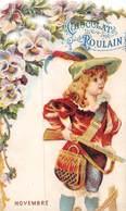 FRP-19-437 : CHOCOLAT POULAIN. MOIS DE NOVEMBRE. LA CHASSE A TIR. FUSIL. CHASSEUR. - Poulain