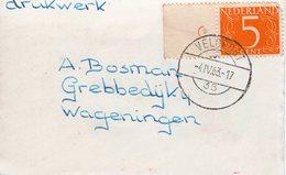 4 IV 1963  VELDPOST 35 Op Drukwerk Naar Wageningen - Postal History
