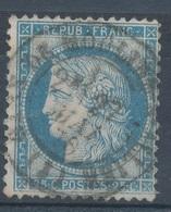 N°60 CACHET GARE - 1871-1875 Cérès